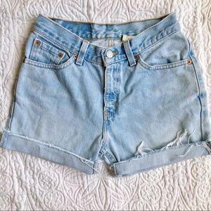 Vintage Levi's 517 High Waisted Mom Shorts | Sz 27